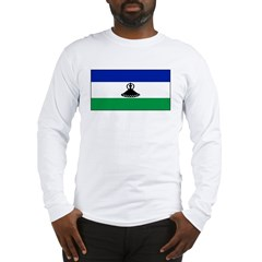 New Lesotho Flag Blank Long Sleeve T-Shirt