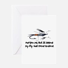 Fly Undone Greeting Cards