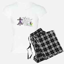 Autism ribbon with Cross Pajamas