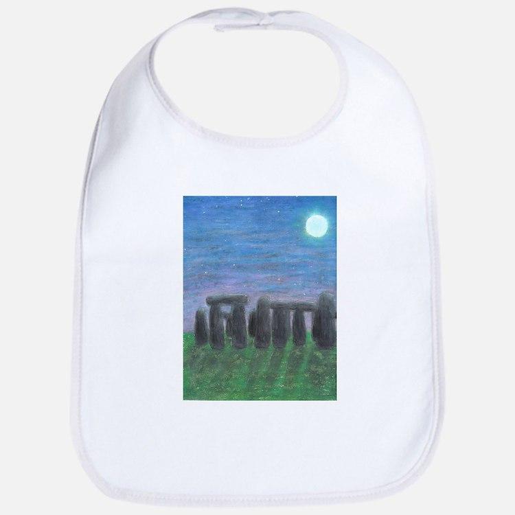 Stonehenge in Moonlight Bib