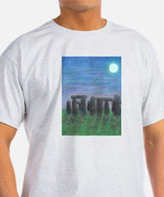 Stonehenge in Moonlight Ash Grey T-Shirt