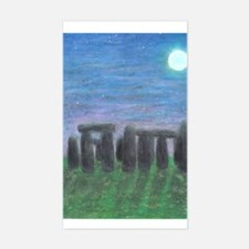 Stonehenge in Moonlight Rectangle Decal