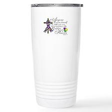 Autism ribbon with Cross Travel Mug