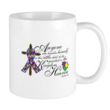 Autism ribbon with Cross Mug