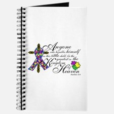 Autism ribbon with Cross Journal