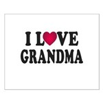 I Love Grandma Small Poster