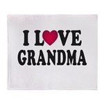 I Love Grandma Throw Blanket