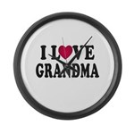 I Love Grandma Large Wall Clock