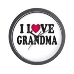 I Love Grandma Wall Clock
