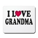 I Love Grandma Mousepad