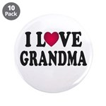 "I Love Grandma 3.5"" Button (10 pack)"