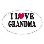 I Love Grandma Sticker (Oval)