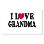 I Love Grandma Sticker (Rectangle)