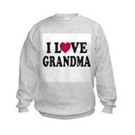 I Love Grandma Kids Sweatshirt