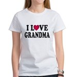 I Love Grandma Women's T-Shirt