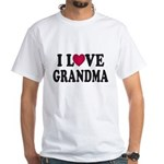 I Love Grandma White T-Shirt