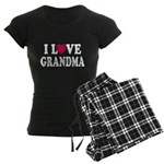 I Love Grandma Women's Dark Pajamas