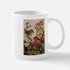 Vintage Robin Birds Mug