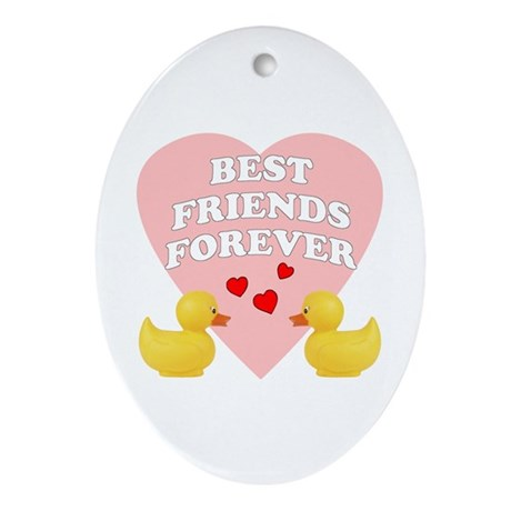 Best Friends Forever Oval Ornament
