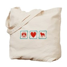 Peace, Love and Staffordshire Terriers Tote Bag