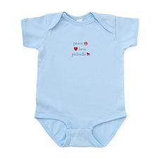 Peace, Love and Pitbulls Infant Bodysuit