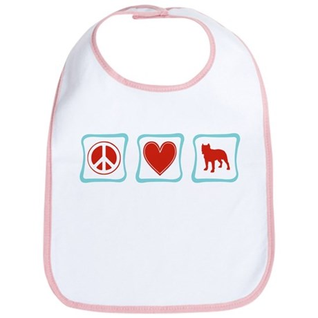Peace, Love and Pitbulls Bib