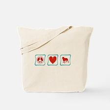 Peace, Love and Pitbulls Tote Bag