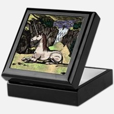 "Colorized ""Unicorn in the Mountains"" Keepsake Box"