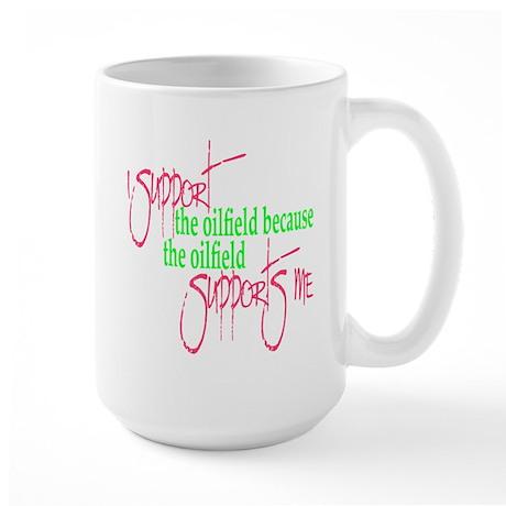 I support...Supports Me Large Mug