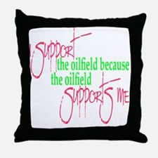 I support...Supports Me Throw Pillow