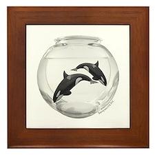 Mini Whales Framed Tile