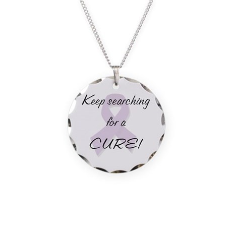 Searching for a Cure (Lupus) Necklace Circle Charm