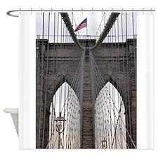 Brooklyn Bridge: No.6 Shower Curtain
