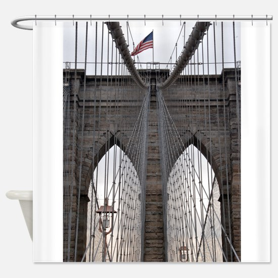Brooklyn Bridge: No.6 Shower Curtain
