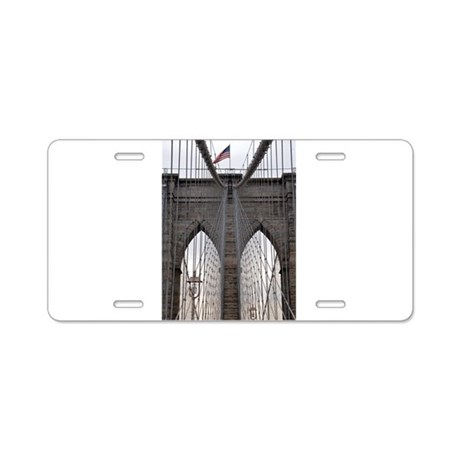 Brooklyn Bridge: No.6 Aluminum License Plate