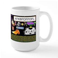 Crazy Colour Large Mug: Ur Naem Heer/personalised