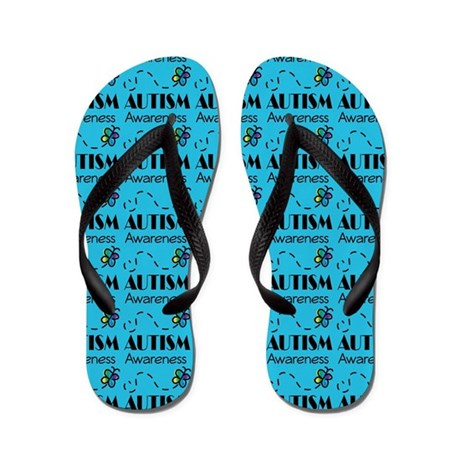 Autism Awareness Butterflies Flip Flops