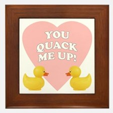 You Quack Me Up Framed Tile