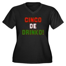 Cinco De Mayo Women's Plus Size V-Neck Dark T-Shir