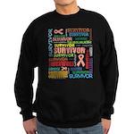 Uterine Cancer Survivor Sweatshirt (dark)