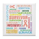 Uterine Cancer Survivor Tile Coaster