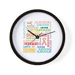 Uterine Cancer Survivor Wall Clock