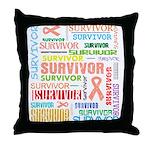 Uterine Cancer Survivor Throw Pillow