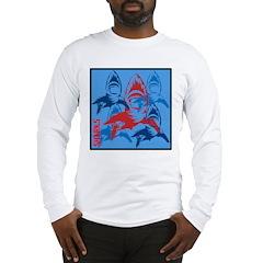 OYOOS Sharks design Long Sleeve T-Shirt
