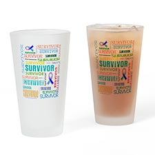 Survivor Cancer Drinking Glass