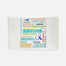 Survivor Cancer Rectangle Magnet
