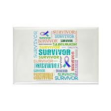 Survivor Cancer Rectangle Magnet (10 pack)
