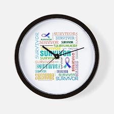 Survivor Cancer Wall Clock