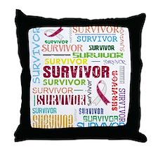 Survivor Throat Cancer Throw Pillow