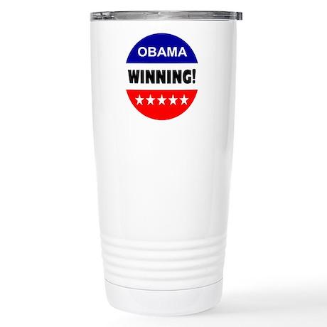 Obama Winning Stainless Steel Travel Mug